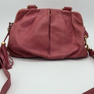 J.Crew Collection untreated Vachetta leather bag